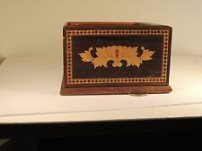 Wooden Inlay Cigarette Box holder with Sliding top (6979)