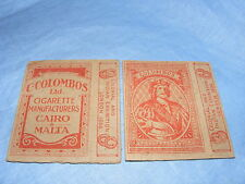 Vintage Empty Cigarette Packet Egyptian Colombos Cigarettes - red Malta Cairo