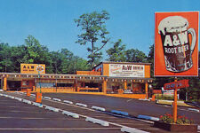 Vintage Cars A&W Drive-in Fast Food Root Beer 1960's (photo print of postcard)