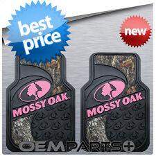2X PINK MOSSY OAK FRONT FLOOR MATS CAMOUFLAGE CAMO TRUCK SUV CAR PAIR SET GIRL