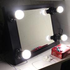 Black Protable Hollywood Lighted Vanity mirror Table Illuminate Makeup Mirror