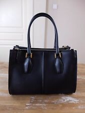 auth TOD'S Tods black D-Cube medium shopping tote bag - Lady Diana - NWT