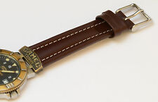 WATCH STRAP FIT FOR CAMEL TROPHY WATCH BAND STRAP 18 MM BROWN