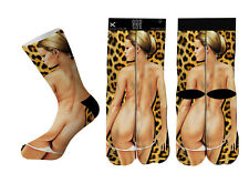Odd Sox OSWIN16BACK Backshots Cheetah Print Socks
