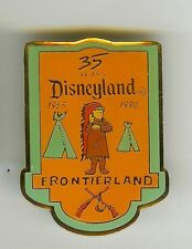 DISNEY 1990 CAST INDIAN CHIEF 2 TEEPEES 2 RIFLES FRONTIERLAND 35th DL PIN NEW