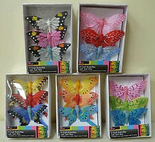 3 LARGE BUTTERFLY 3 DIMENSIONAL, EMBELLISHMENTS, CARD MAKING, CRAFT