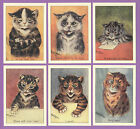 CRYSTAL CAT CARDS - LOUIS WAIN - SET OF 6 CAT CARDS - ATTITUDE