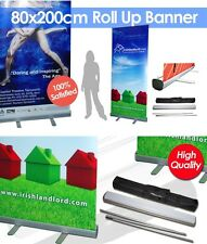80X200CM LUXURY CUSTOM ROLL UP RETRACTABLE BANNER WITH STAND FREE PRINTING