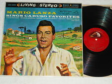 MARIO LANZA-Sings Caruso Favorites (1960) Stereo RCA VICTOR Red Seal LP