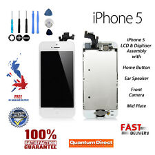 Complete Pre Assembled Retina LCD + Digitiser Touch Screen FOR iPhone 5 WHITE