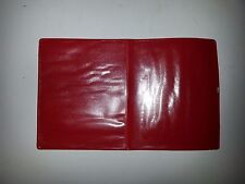 pvc wallet/document holder in red (each page can hold an item up to 112mm x 90mm