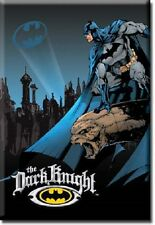 BATMAN THE DARK KNIGHT, Comic Book Hero Vintage Tin Metal Sign Magnet USA