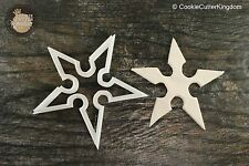 Ninja Star Shuriken Cookie Cutter, 3D Printed