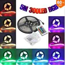 5m 5050 RGB waterproof 300 LED strip light 12v dc 24 key ir Controller