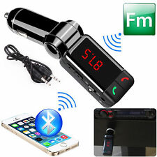 Dual USB Car Cigarette Lighter Charger AUX FM USB MP3 Player For iPhone Samsung