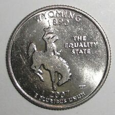 2007 US State Quarter, 25 cents, Wyoming Bucking Horse and Rider, wildlife coin