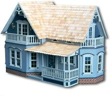 Dollhouse Kit Farmhouse Doll Wood House Corona Wooden 2 Floor 4 Room Children