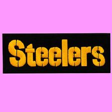 NFL Pittsburgh Steelers Text Super Bowl Team Iron On Embroidered Patch