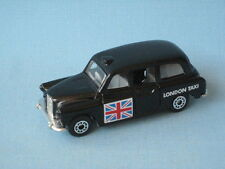 Matchbox FX4R London Taxi Black Body with Flag Tourist Holiday Toy Model Car