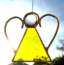 Stained Glass Angel - Christmas Tree Decoration -Yellow Coloured - Unique Gift