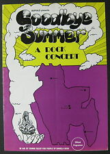 The WHO Goodbye Summer 1971 UK ORG CONCERT PROGRAM Bangladesh Charity Show FACES