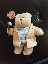 Starbucks Bearista Bear Vantenite 1st Date Boy Coat Vest Plush Holds Flower 10""