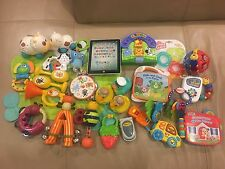Baby LOT 27 Toys Vtech Einstein Tablet Cell Phone Zoo Musical Instruments Cows