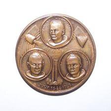 1969 Apollo XI Armstrong Aldrin Collins Men On The Moon COIN TOKEN