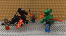 LEGO 2 Dragons & 3 Mini Figure Knights Weapons Fight Castle Play Set K11