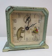 Rare Antique Keebler Alarm Clock Organ Grinder Bear