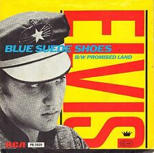 "7"" Elvis Presley – Blue Suede Shoes / Promised Land / Blue Wax //Germany 1985"