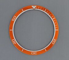 Orange & Silver  Planet Ocean Bezel Insert to fit Seiko 6309, 7002 & SKX007