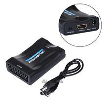 SCART To HDMI Audio Video Upscale Converter Adapter 1080P HD TV DVD SKy Box STB