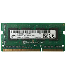 Micron 16GB PC3L-12800 DDR3L-1600Mhz 204Pin Unbuffered Sodimm Laptop Memory RAM