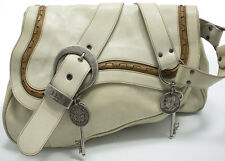 Christian Dior Gaucho Double Saddle Shoulder bag Schultertasche Tasche Off-White