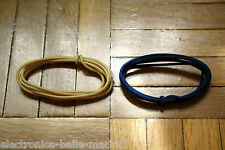 2 Mt GUITAR ELECTRIC WHITE & BLUE 22 AWG VINTAGE CLOTH COVERED WIRE