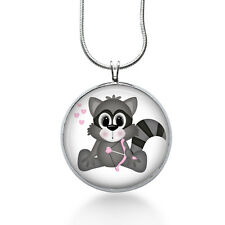 Raccoon Love Necklace - Woodland Jewelry - Pendant