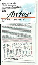 Archer Tattoo Waterslide Decals 1/12 (120mm) to 1/8  Tribal/Celtic 990011 ST