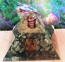 RARE 4 INCH ORGONE MAGNETIC PYRITE CRYSTAL ,AND COPPER PYRAMID ENERGY GENERATOR,