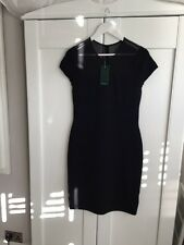 Ralph Lauren Black Tight Smart Party Body Con Dress Size L Brand New RRP £235