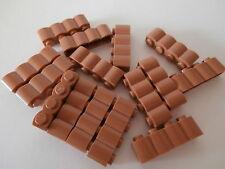 + LEGO RITTER   15  hellbraunrote Palisaden - Bausteine  1 x 4  Noppen   NEU +