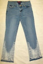 JR Womens Low Rise Light Blue Hege Designer DENIM JEANS Size 1-2 BUBBLEGUM