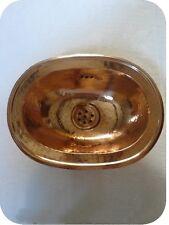 LAVE MAIN MAROCAIN A ENCASTRER EN CUIVRE ROUGE 30X22 CM / LAVABO ORIENTAL MAROC