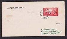 Paquebot Cover 1948 to Tacoma Washington USA Special China Shanghai Paquebot Pmk