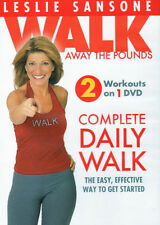 Walk Aerobics DVD - Leslie Sansone COMPLETE DAILY WALK MORNING & EVENING MILE!