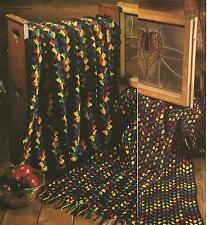 Crochet Pattern~ STAINED GLASS AFGHAN Rainbow Ripple, Shell Strip ~Instructions
