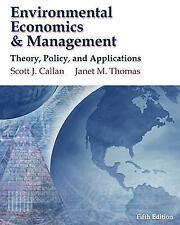 Environmental Economics and Management: Theory, Policy and Applications (with In