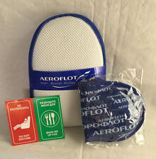 Aeroflot Airlines Amenity Kit - Slippers & Eye Shades - New!