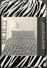 Zebra Print King Bed Quilt Cover Set by Apartmento - Micro Mink