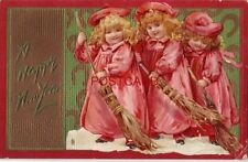 1908 Tuck & Sons New Year Post Cards Series No. 139 A HAPPY NEW YEAR embossed